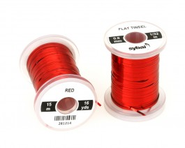 Flat Tinsel, 0.8 mm, Red