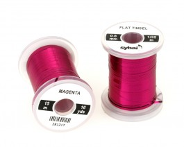 Flat Tinsel, 0.8 mm, Magenta