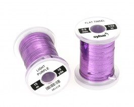 Flat Tinsel, 0.8 mm, Light Purple