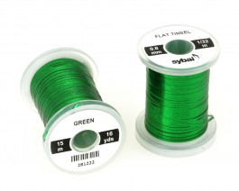 Flat Tinsel, 0.8 mm, Green