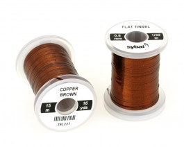 Flat Tinsel, 0.8 mm, Copper Brown