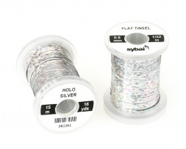 Flat Tinsel, 0.8 mm, Holographic Silver