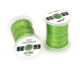 Flat Tinsel, 0.8 mm, Holographic Chartreuse