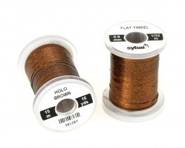 Flat Tinsel, 0.8 mm, Holographic Brown