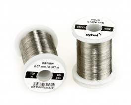Brush Stainless Steel Wire, 0.07 mm, 100 m