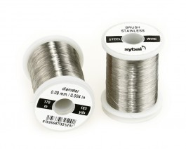 Brush Stainless Steel Wire, 0.09 mm, 170 m